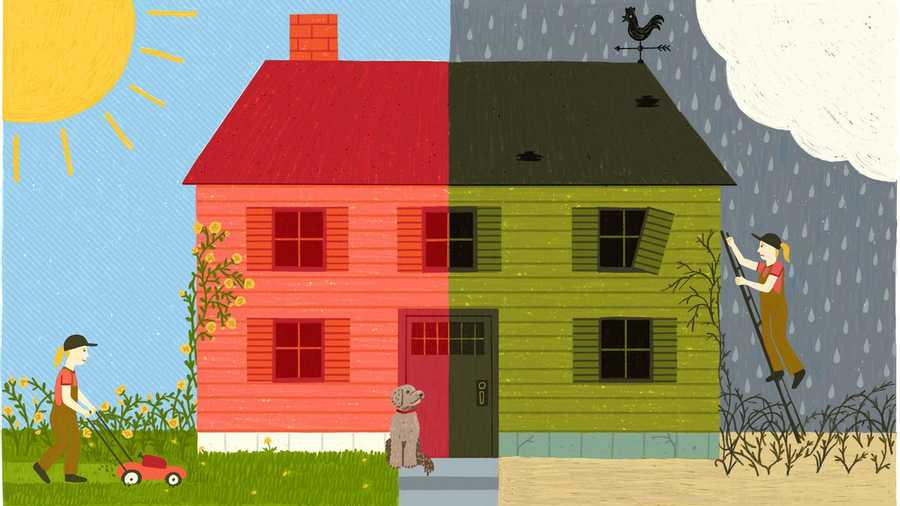 The two tales about houses