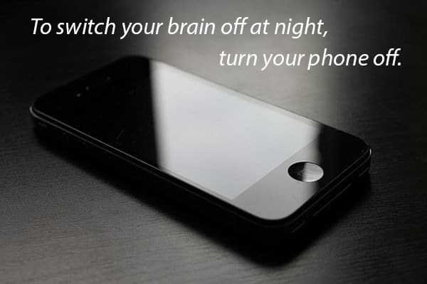 Switch off the electronic devices