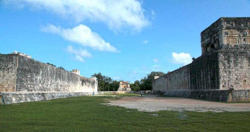The great ball court from Chichen Itza