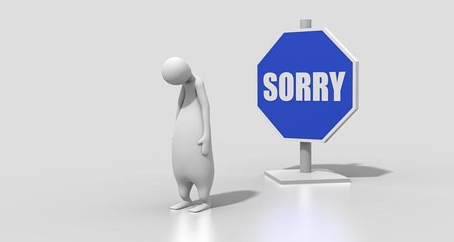 "Overusing ""I'm Sorry"""