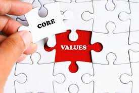 Choose your core values