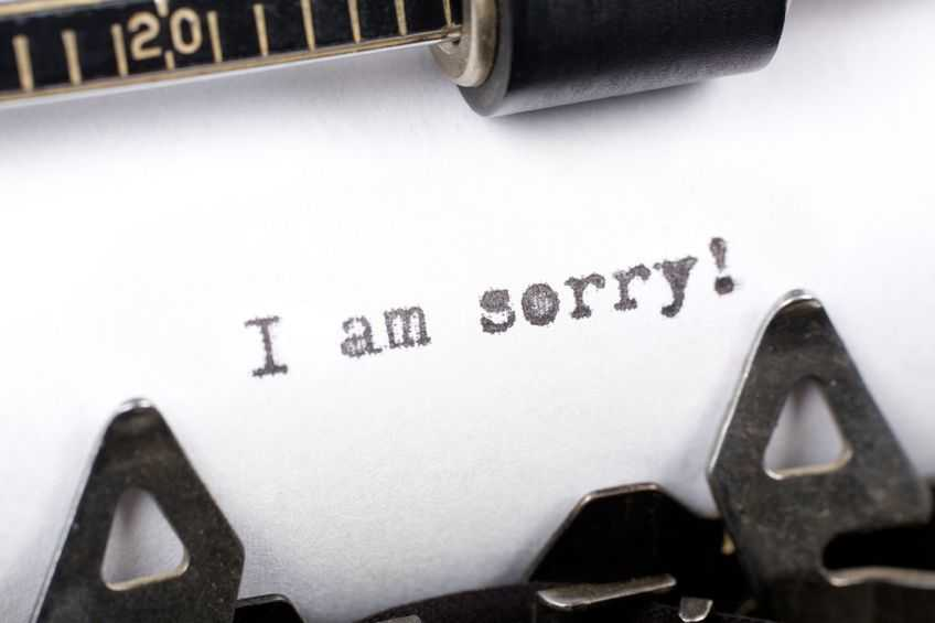 How to give an apology
