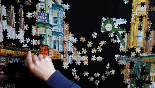 On the consolatory pleasure of jigsaws when the world is in bits
