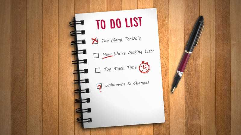 Dealing with to-do lists