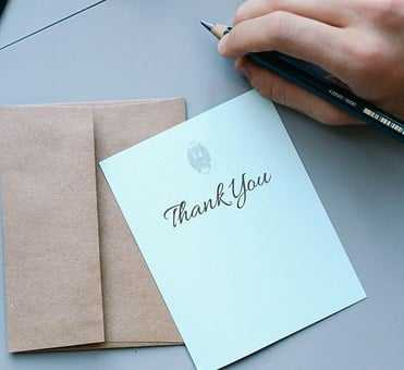 Write a thank-you note