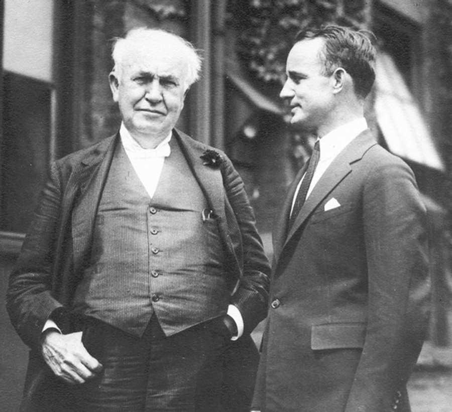 Hill and Thomas Edison