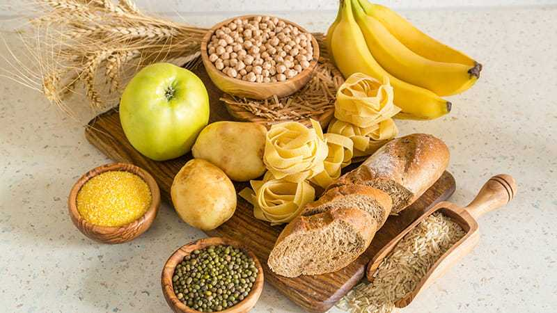 Exercise and carbohydrate-rich diets