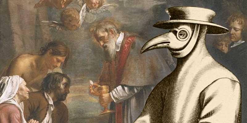 The beaked masks from the 17th century