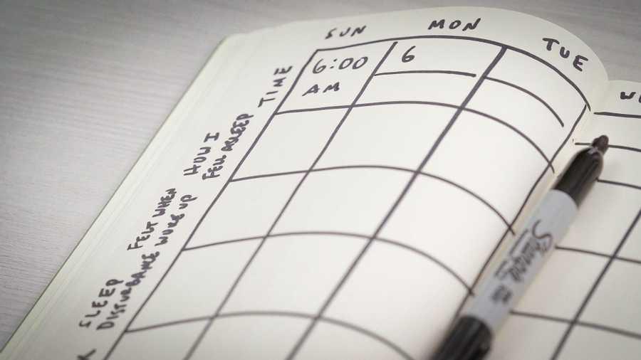 Keep a sleep diary