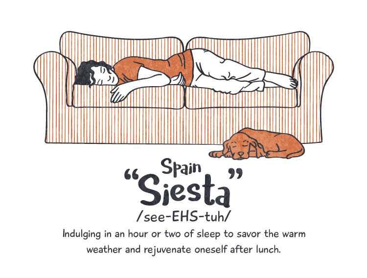 Spain: 'siesta'